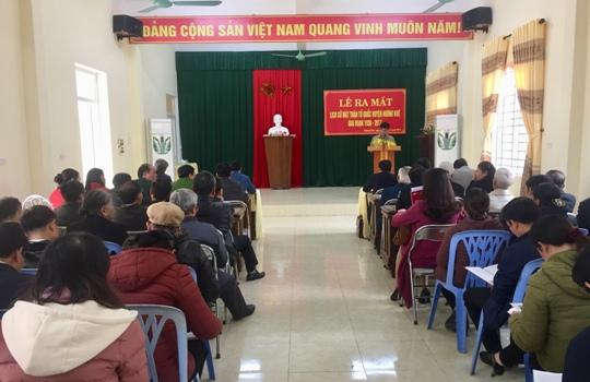 Lễ ra mắt sách Lịch sử Mặt Trận Tổ Quốc huyện Hương Khê giai đoạn 1930-2017.