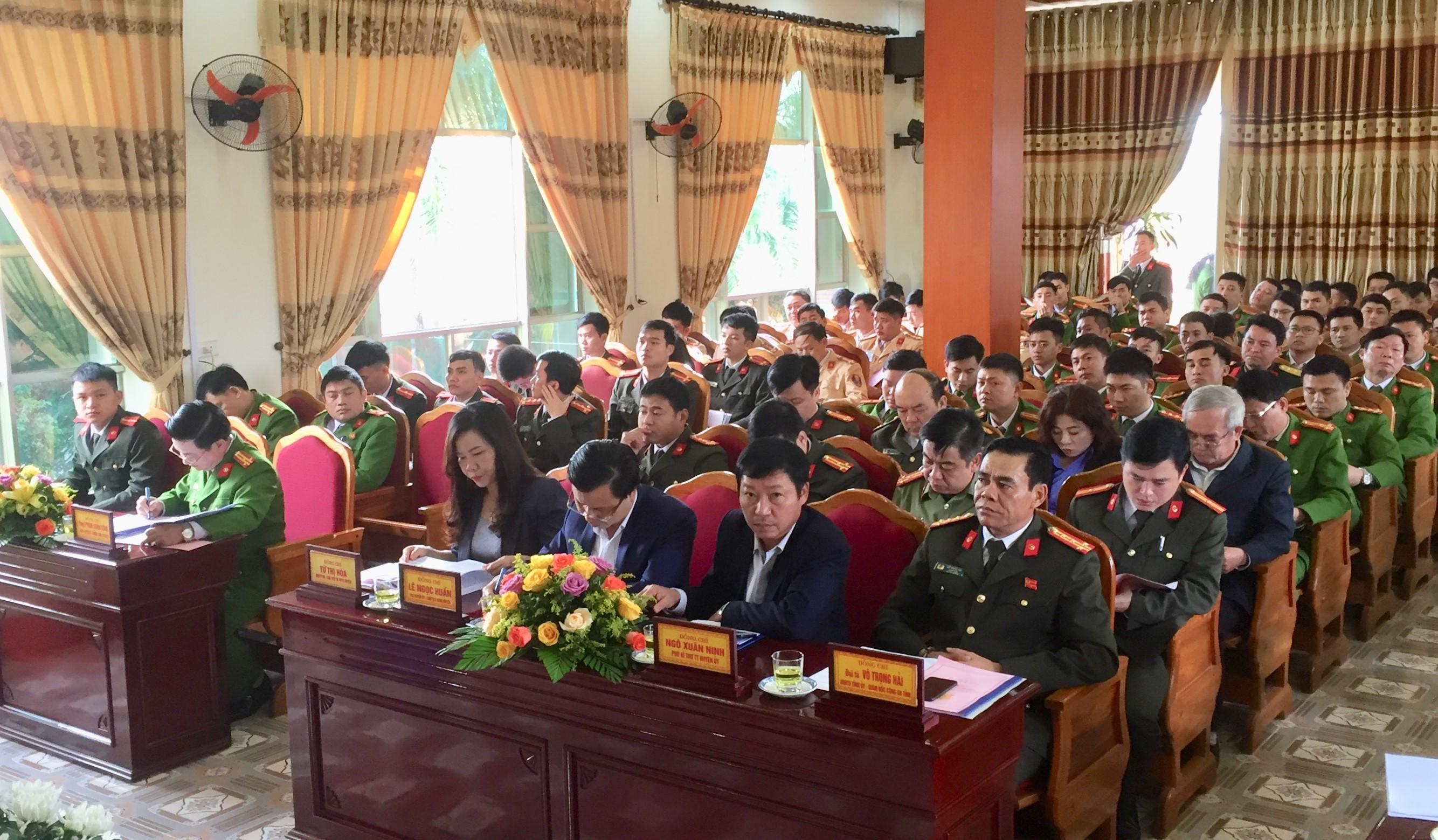 Công an huyện Hương Khê triển khai nhiệm vụ 2020