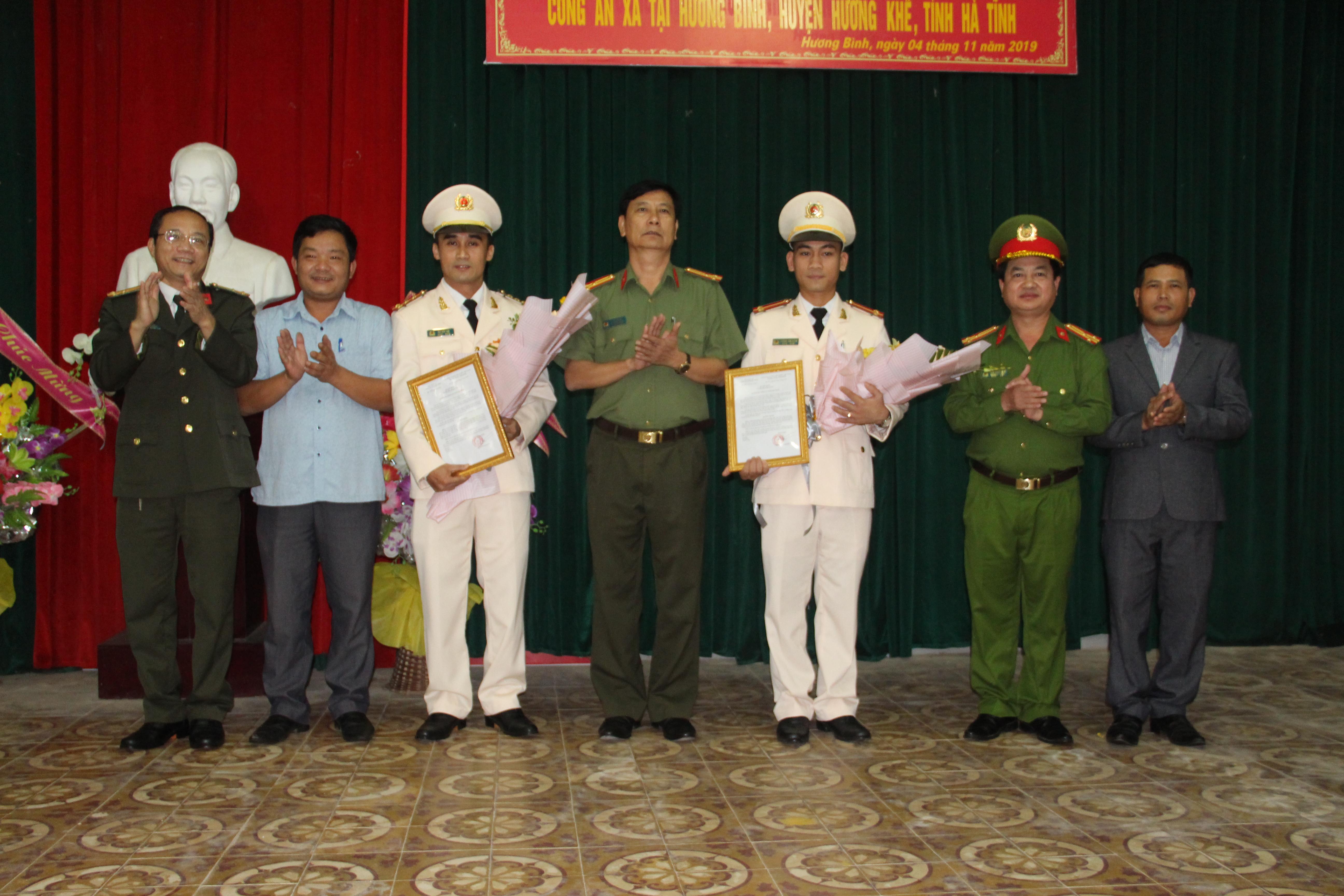 Hương Khê: Điều động 4 công an chính quy đảm nhiệm chức danh trưởng, phó công an xã