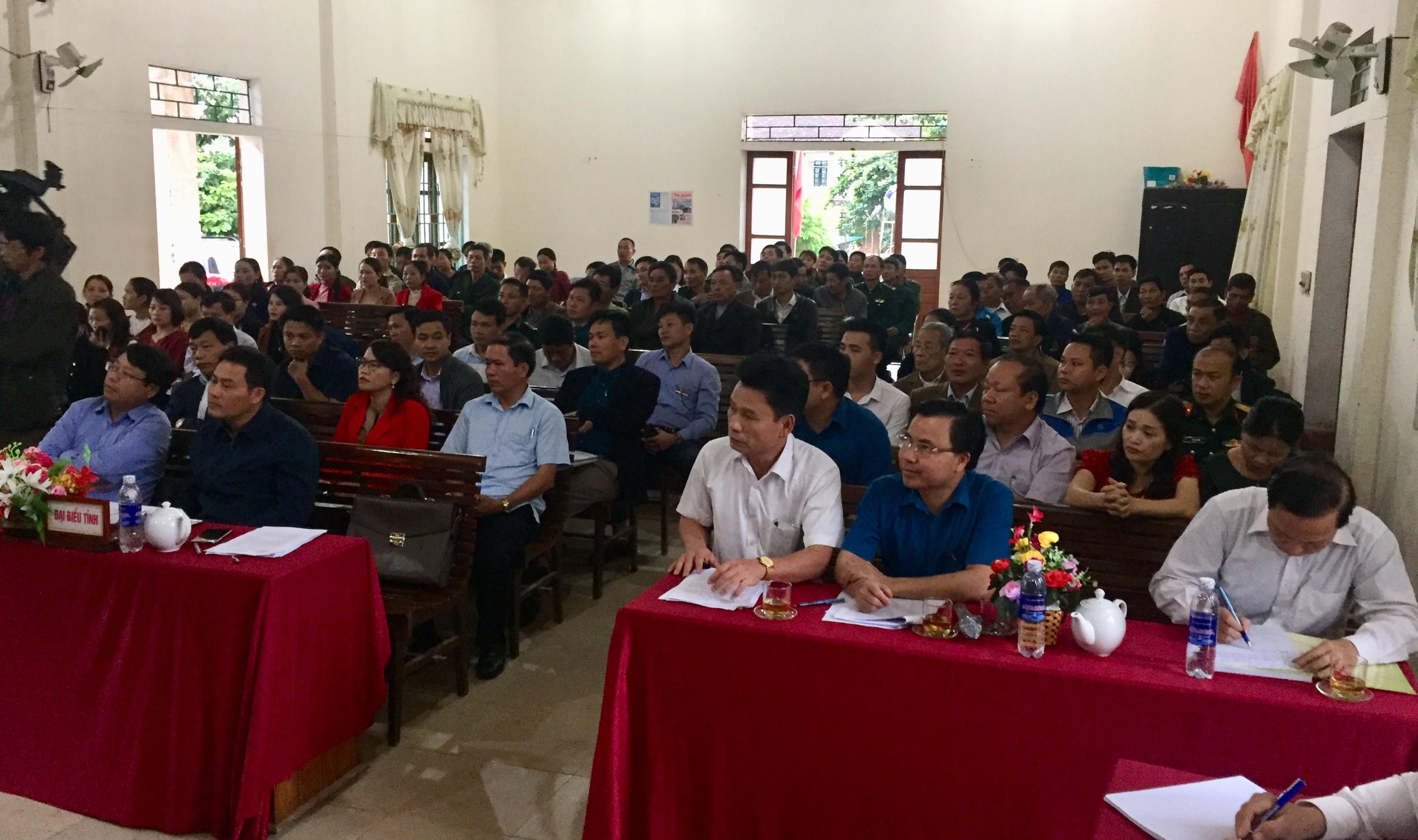 HĐND tỉnh tiếp xúc cử tri 2 xã Hương Lâm và Hương Liên