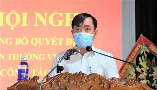 Đồng chí Nguyễn Thế Hùng được chỉ định giữ chức Bí thư Đảng ủy xã Hương Lâm.