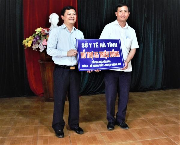 Ngành Y tế Hà Tĩnh hỗ trợ 405 triệu đồng cải tạo nhà văn hóa và xây nhà ở cho 8 hộ dân thôn 4 xã Hương Thủy