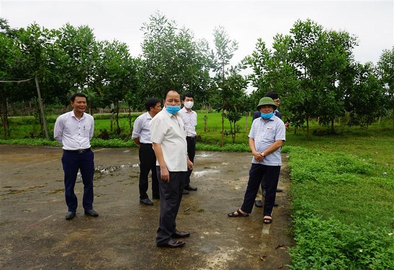 Ban chỉ đạo Chương trình MTQG xây dựng nông thôn mới huyện kiểm tra, làm việc tại Hương Xuân