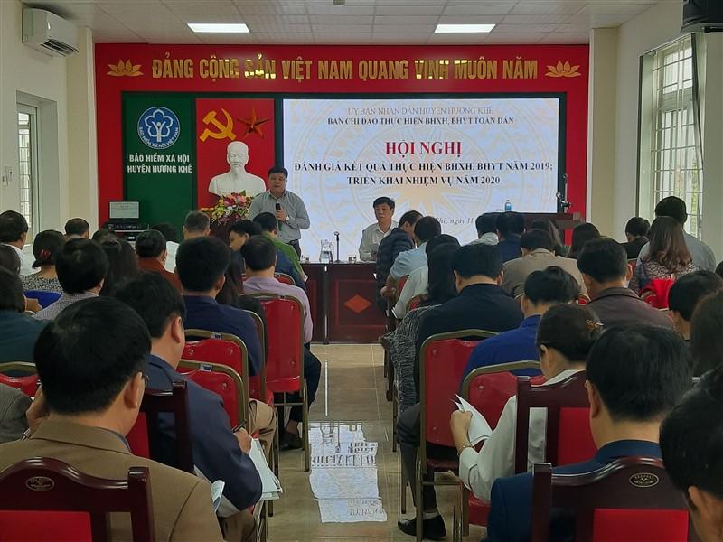 Hương Khê: Triển khai nhiệm vụ BHXH, BHYT năm 2020