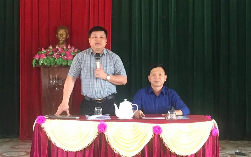 Phó chủ tịch UBND huyện làm việc với Lộc Yên về nhiệm vụ xây dựng Nông thôn mới