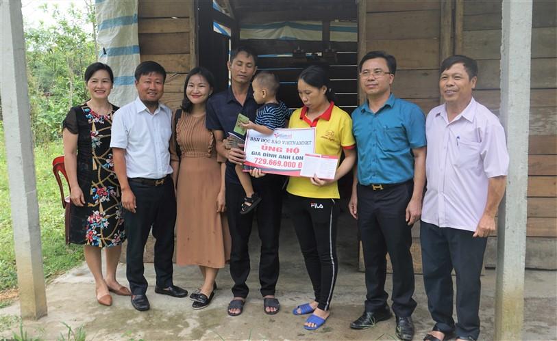 Bạn đọc Báo Vietnamnet ủng hộ gia đình anh Lê Khắc Long- Phú Gia gần 730 triệu đồng