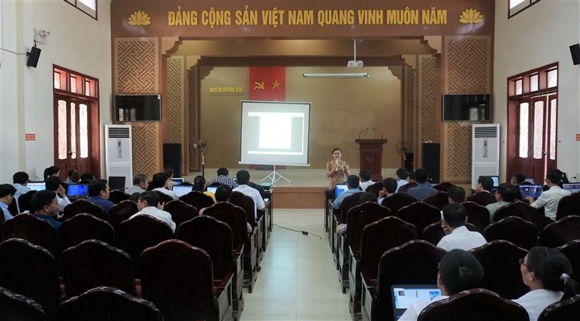 Tập huấn công tác quản trị Trang thông tin điện tử cho cán bộ 21 xã, thị trấn