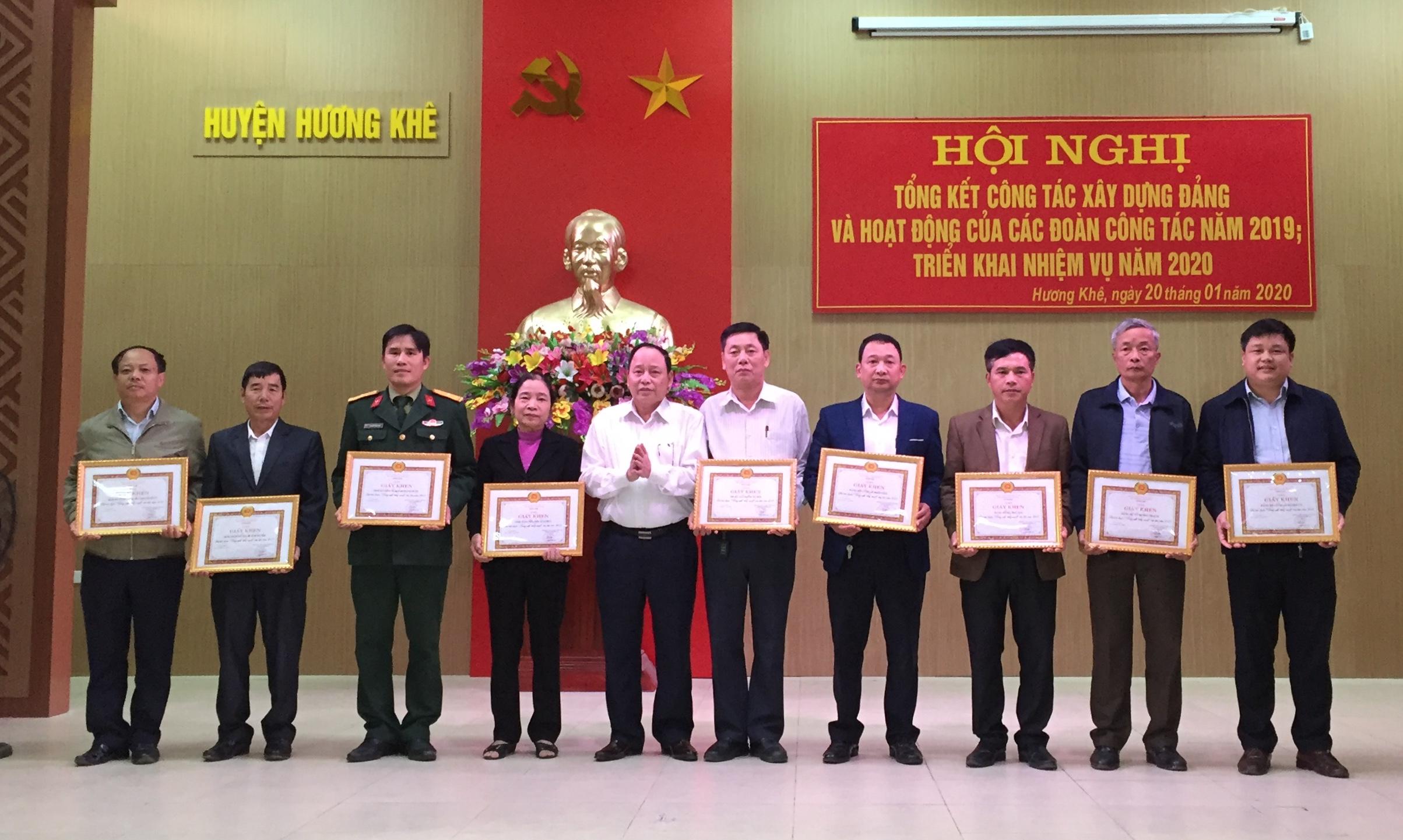 Hương Khê Tổng kết công tác xây dựng Đảng năm 2019, nhiệm vụ 2020