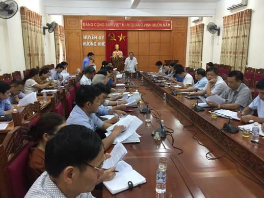 Thường trực Ban chỉ đạo Chương trình MTQG xây dựng NTM huyện tổ chức cuộc họp với các xã khó khăn, đạt dưới 11 tiêu chí.